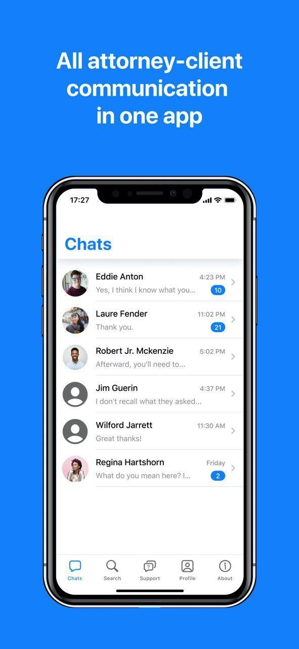 All attorney-client communication in one app