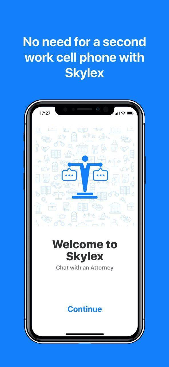 No need for a second work cell phone with Skylex